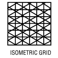 11 x 17 Vellum 10-Sheet Pack Isometric Grid
