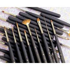 Best Synthetic Sable Miniature Watercolor and Acrylic Mini Brush Deer Foot Stippler 025