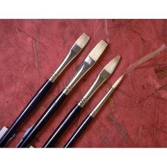 Good Natural Chinese Bristle Oil and Acrylic Brush Flat 10