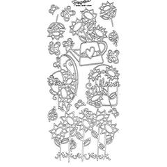 Styl'ines Outline Stickers Garden Flowers