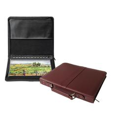 "Prestige Premier Burgundy Series Leather Presentation Case 14"" x 17"""