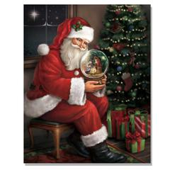 """Santa's Favorite Gift"" by Trendy Decor 4U Lighted Canvas Wall Art"