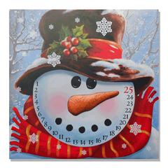 """Snowman Advent Calendar"" by Trendy Decor 4U Lighted Canvas Wall Art"