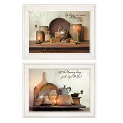 """""""By Grace"""" 2-Piece Vignette by Susie Boyer, White Frame"""