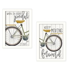 """""""Pedal it Out"""" 2-Piece Vignette by Marla Rae, White"""