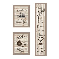 """""""The Kitchen Collection II"""" 3-Piece Vignette, Taupe Frame"""
