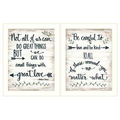 """""""Great Love"""" 2-Piece Vignette by Annie LaPoint, White Frame"""