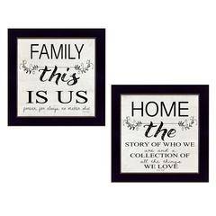 """""""Family"""" 2-Piece Vignette by Cindy Jacobs, Black Frame"""