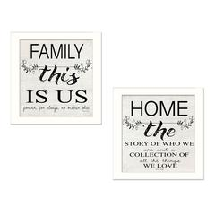 """""""Family"""" 2-Piece Vignette by Cindy Jacobs, White Frame"""