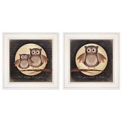 """Owl Always Love & Need You"" 2-Piece Vignette by Marla Rae, White Frame"