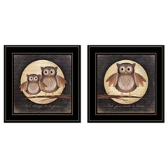 """Owl Always Love & Need You"" 2-Piece Vignette by Marla Rae, Black Frame"