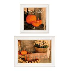"""Autumn Harvest"" 2-Piece Vignette by Anthony Smith, White Frame"