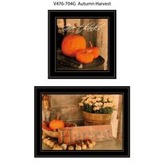 """Autumn Harvest"" 2-Piece Vignette by Anthony Smith, Black Frame"