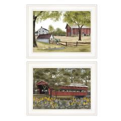 """The Spring House"" 2-Piece Vignette by Billy Jacob, White Frame"