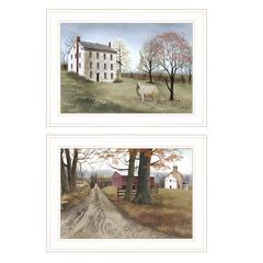 """The Road Home"" 2-Piece Vignette by Billy Jacobs, White Frame"