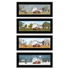 """Billy Jacobs Four Seasons Collection V"" 4-Piece Vignette, Black Frame"