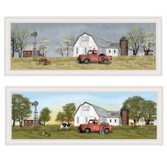 """Billy Jacobs Summer/Spring Seasonal"" 2-Piece Vignette, White Frame"