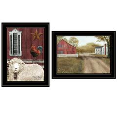 """Good Morning""  2-Piece Vignette by Billy Jacobs, Black Frame"