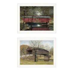 """Bridge Collection I"" 2-Piece Vignette by Billy Jacobs, White Frame"