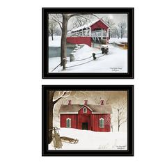 """Crisp & New Fallen Snow"" 2-Piece Vignette by Billy Jacobs, Black Frame"