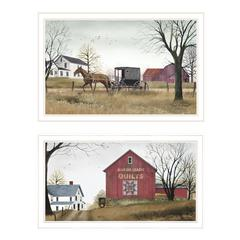 """Goin to Market"" 2-Piece Vignette by Billy Jacobs, White Frame"