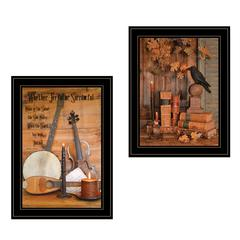 """Music / Nevermore"" 2-Piece Vignette by Billy Jacobs, Black Frame"