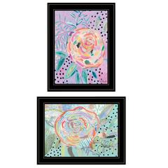 """Bloom for Yourself"" 2-Piece Vignette by Kait Roberts, Black Frame"