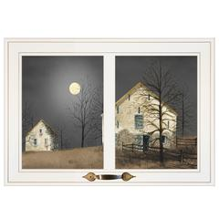 """Still of the Night"" by Billy Jacobs, Framed Print, White Window-Style Frame"