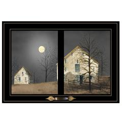 """Still of the Night"" by Billy Jacobs, Framed Print, Black Window-Style Frame"