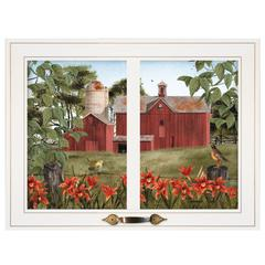 """Summer Days"" by Billy Jacobs, Framed Print, White Window-Style Frame"