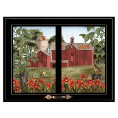 """Summer Days"" by Billy Jacobs, Framed Print, Black Window-Style Frame"