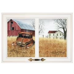 """Granddads Old Truck"" by Billy Jacobs, Framed Print, White Window-Style Frame"