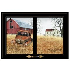 """Granddads Old Truck"" by Billy Jacobs, Framed Print, Black Window-Style Frame"
