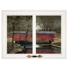 """Warm Summer's Eve"" by Billy Jacobs, Framed Print, White Window-Style Frame"