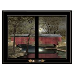"""Summer Pastures"" by Billy Jacobs, Framed Print, Black Window-Style Frame"
