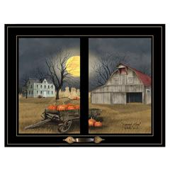 """Harvest Moon"" by Billy Jacobs, Framed Print, Black Window-Style Frame"