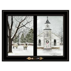 """I Heard the Bells on Christmas Day"" by Billy Jacobs, Black Window-Style Frame"