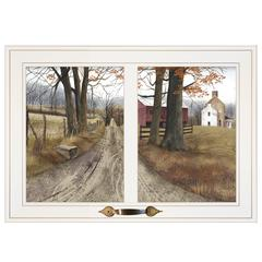 """The Road Home"" by Billy Jacobs, Framed Print, White Window-Style Frame"