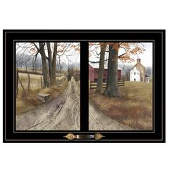"""The Road Home"" by Billy Jacobs, Framed Print, Black Window-Style Frame"
