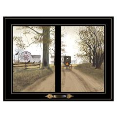 """Heading Home"" by Billy Jacobs, Framed Print, Black Window-Style Frame"