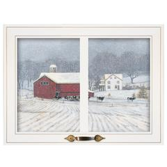 """The Home Place"" by Bonnie Mohr, Framed Print, White Window-Style Frame"