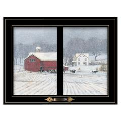 """The Home Place"" by Bonnie Mohr, Framed Print, Black Window-Style Frame"