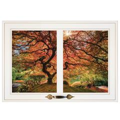 """First Colors of Fall I"" by Moises Levy, Framed Print, White Window-Style Frame"