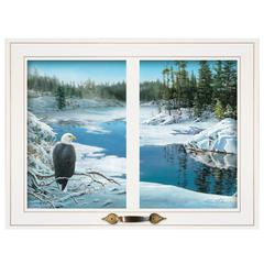 """The Lookout"" by Kim Norlien, Framed Print, White Window-Style Frame"