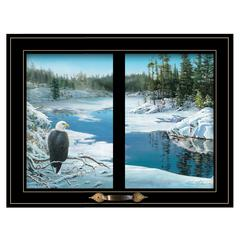 """The Lookout"" by Kim Norlien, Framed Print, Black Window-Style Frame"