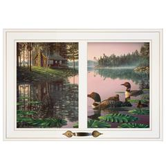 """Northern Tranquility"" by Kim Norlien, Framed Print, White Window-Style Frame"
