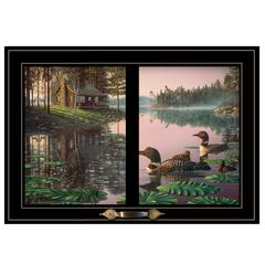 """Northern Tranquility"" by Kim Norlien, Framed Print, Black Window-Style Frame"