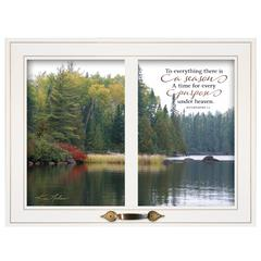 """To Everything There is a Season"" by Kim Norlien, White Window-Style Frame"