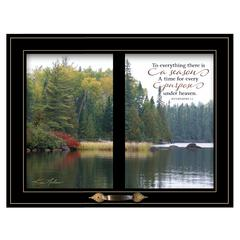 """To Everything There is a Season"" by Kim Norlien, Black Window-Style Frame"
