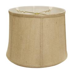 Slant Retro Drum Softback Lampshade with Washer Fitter, Jute